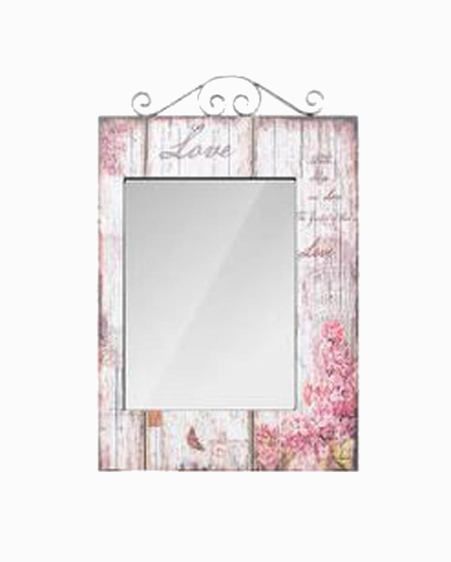 Espelho Retang Flores Love Oldway 74x48x4cm  - Arrivo Mobile