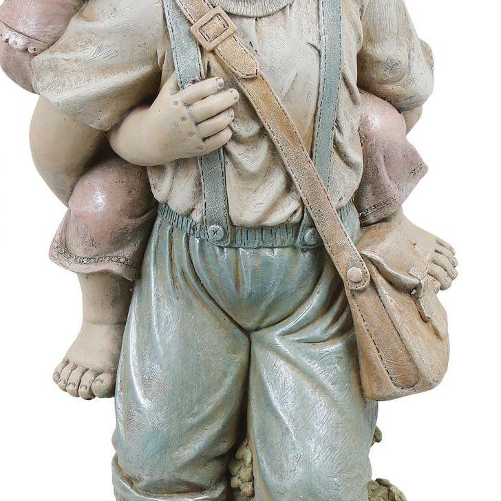 Estátua Crianças Garupa Greenway 94X38X40  - Arrivo Mobile