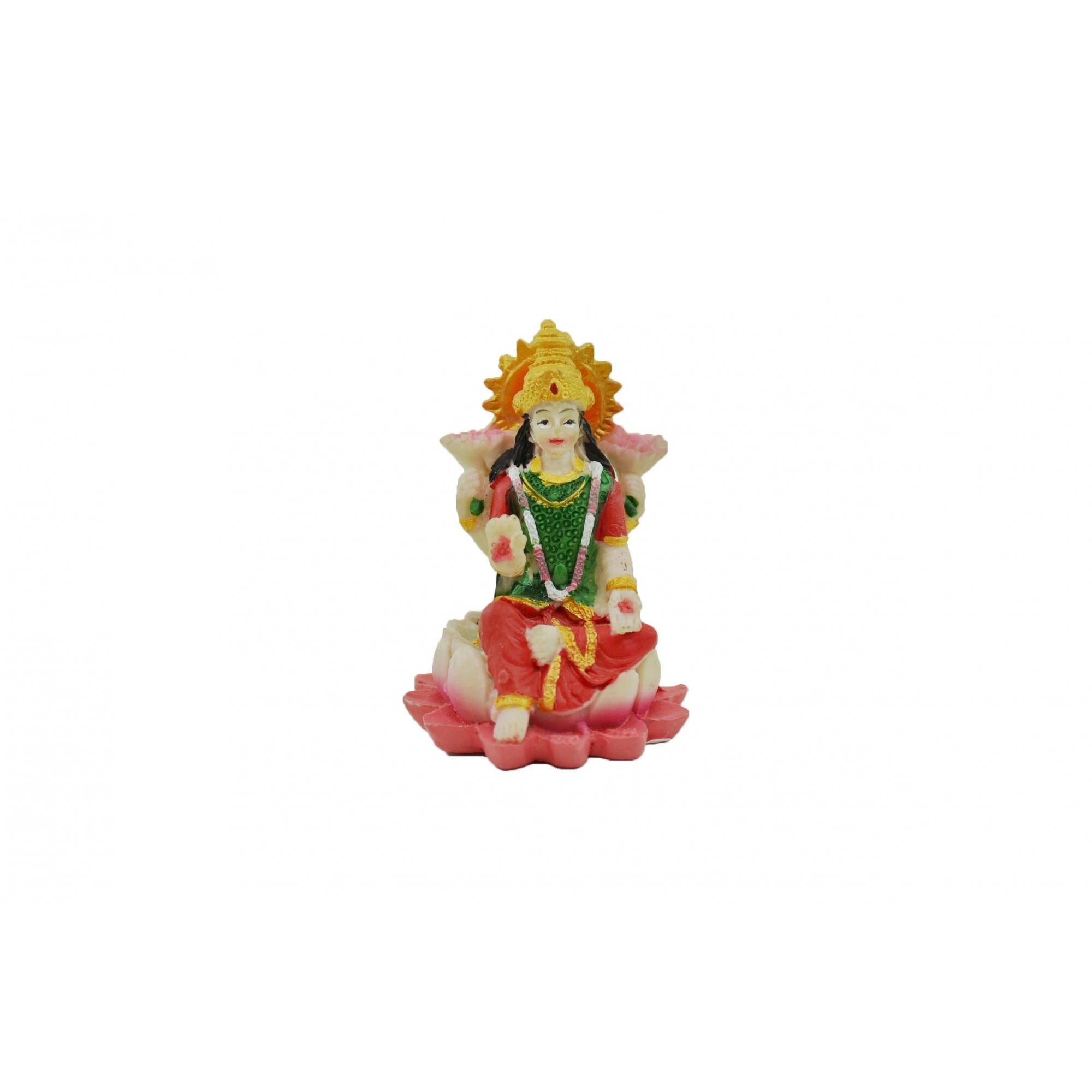 Estatua Enfeite Imagem de Lakshmi De Resina Importado 5cm  - Arrivo Mobile