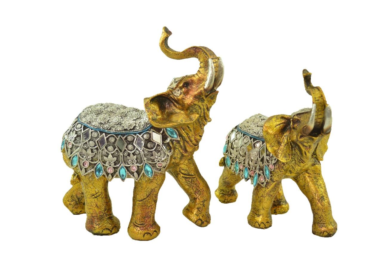Estatua Imagem de Elefante C/ 2 De Resina Importado  - Arrivo Mobile