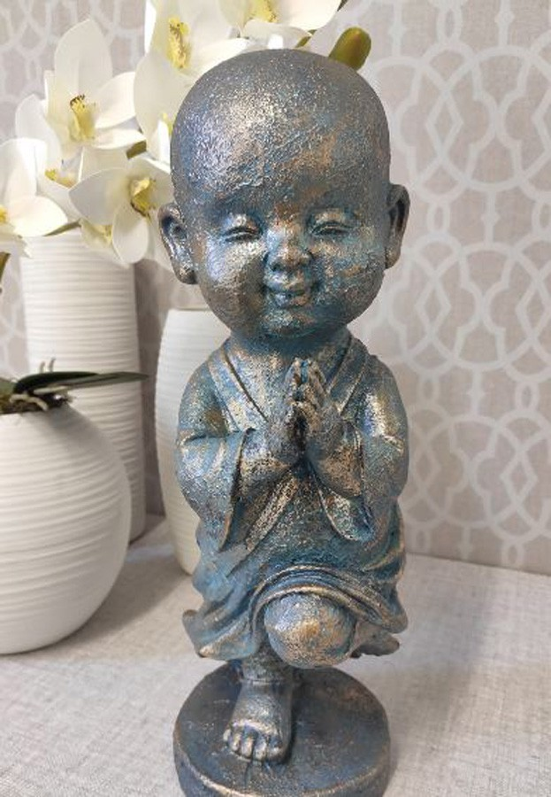 Estatueta Decorativa Buda 14x14x39cm  - Arrivo Mobile