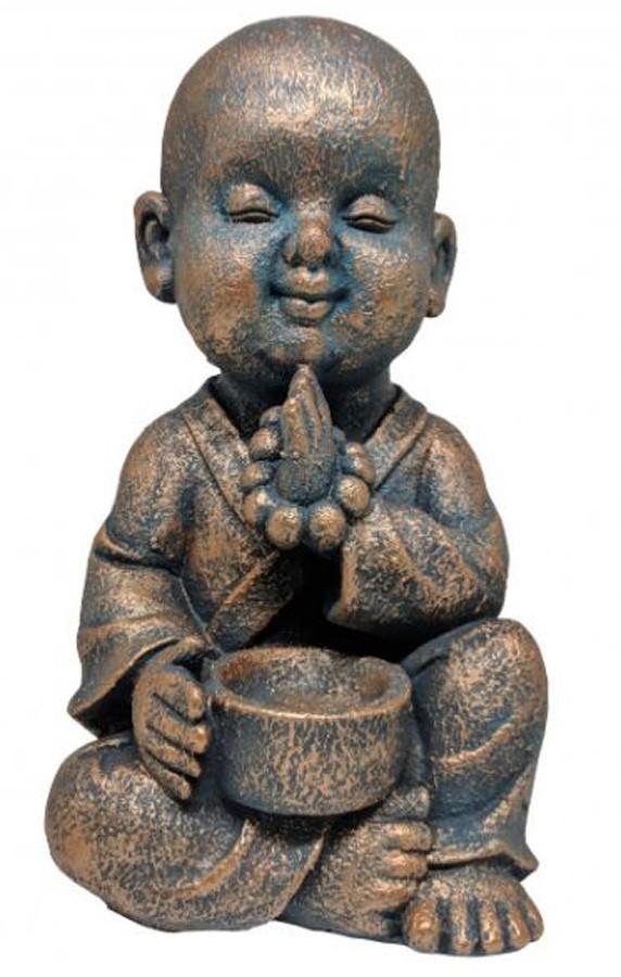 Estatueta Decorativa Buda 18x15x30cm  - Arrivo Mobile