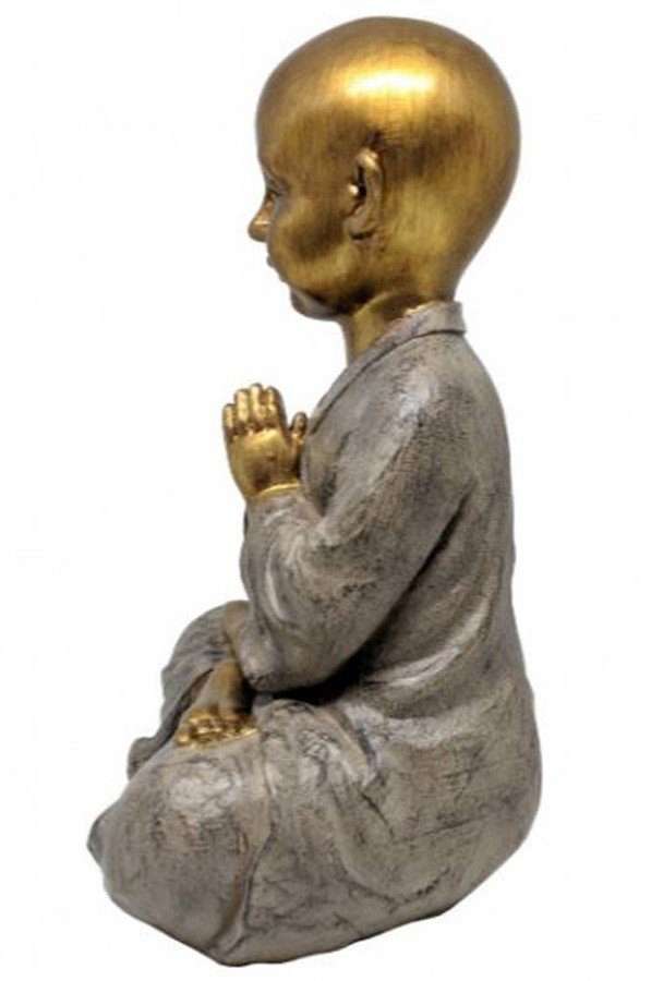 Estatueta Decorativa Buda 21.3x18.3x37cm  - Arrivo Mobile