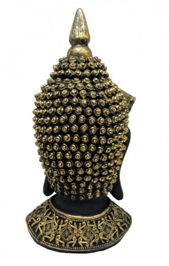 Estatueta Decorativa Cabeça Buda 14.2x15x33cm  - Arrivo Mobile