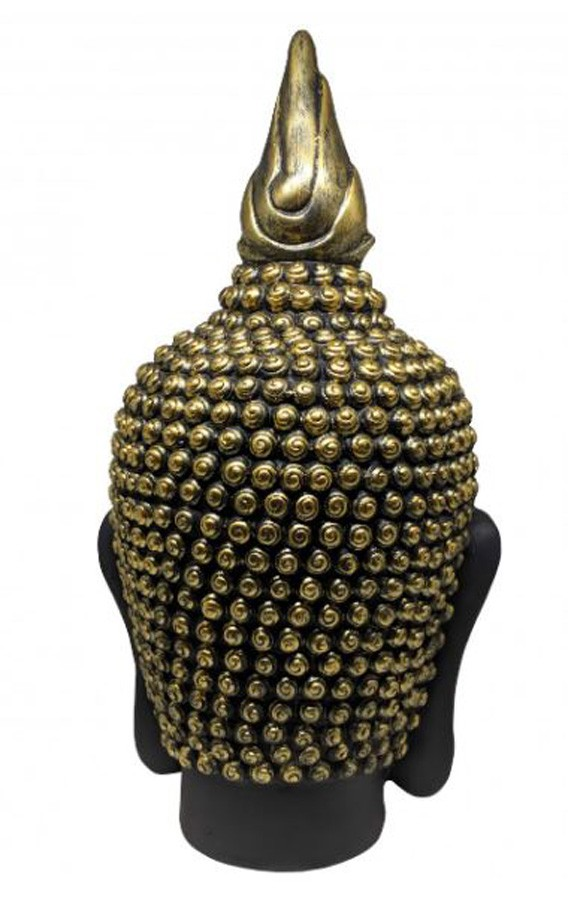 Estatueta Decorativa Cabeça Buda 28x28x50cm  - Arrivo Mobile