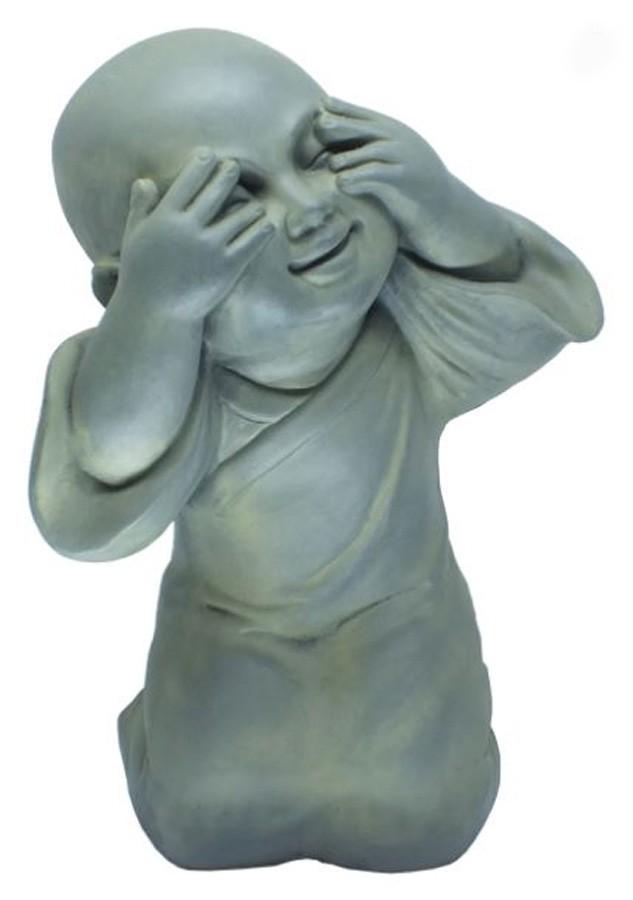 Estatueta Buda de Composto Mineral 26,5x22x39cm  - Arrivo Mobile