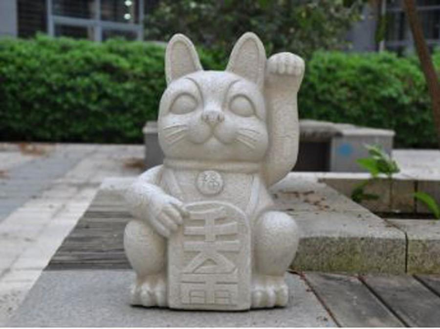 Estatueta Gato Da Sorte Em Composto Mineral  - Arrivo Mobile