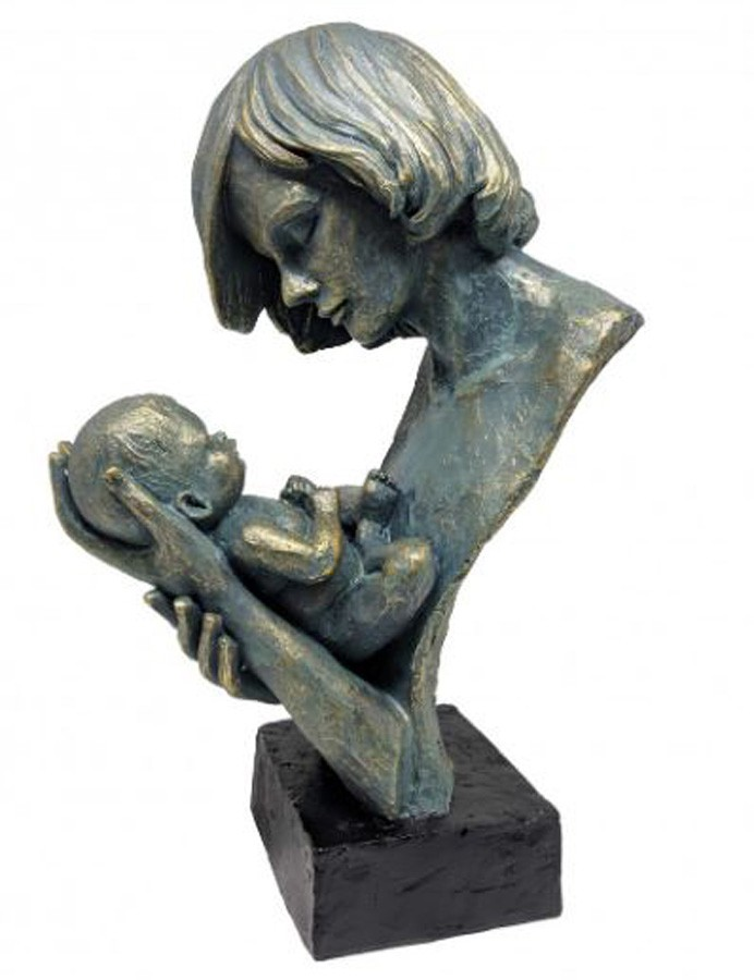 Estatueta Resina Colo De Mãe 23,5x15,5x37cm  - Arrivo Mobile