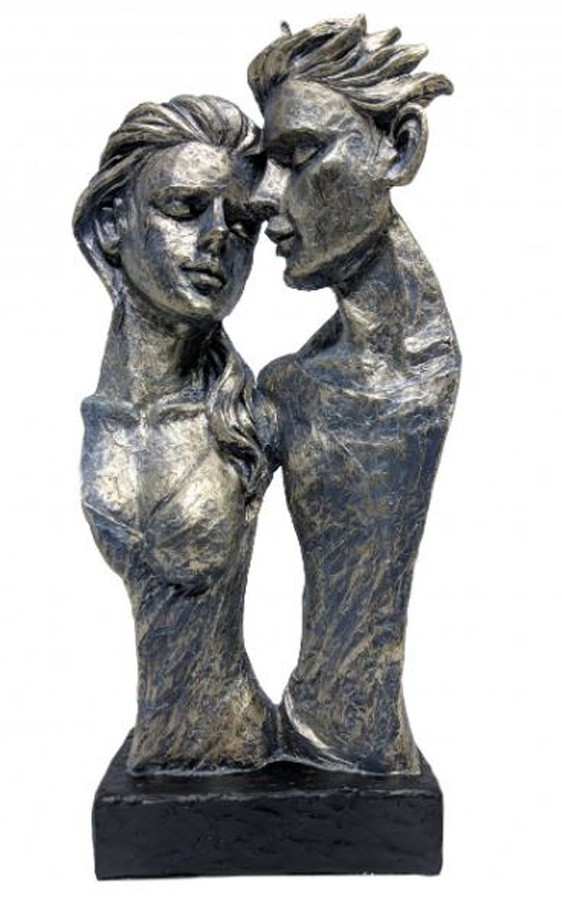 Estatueta Resina Parte Casal 17,2x8,7x35cm  - Arrivo Mobile