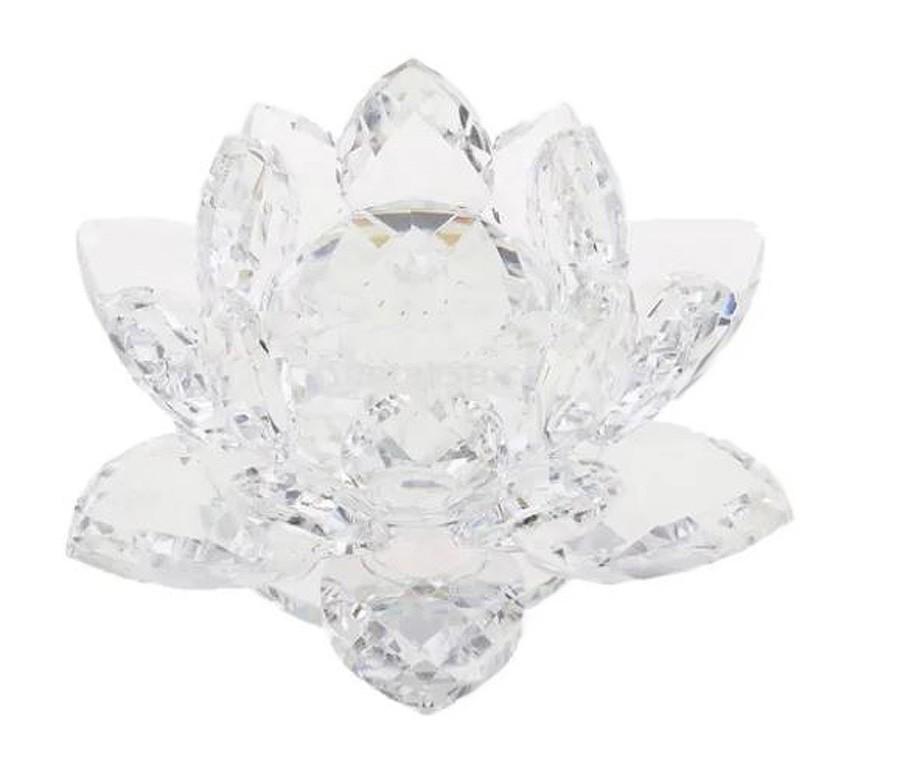 Flor De Lotus Cristal Branca 20mm Imp  - Arrivo Mobile