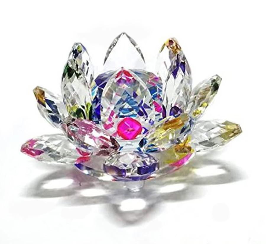 Flor De Lotus Cristal Fruta Cor 50mm Imp  - Arrivo Mobile