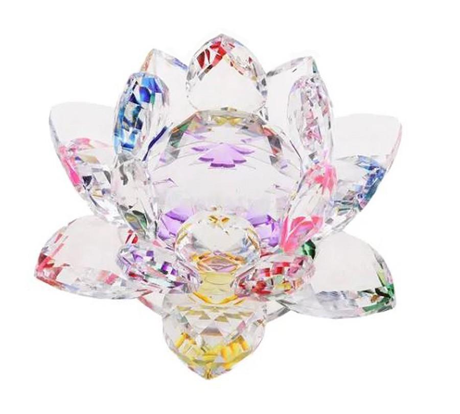 Flor De Lotus Cristal Miolo Colorido Imp  - Arrivo Mobile