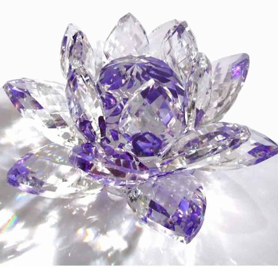 Flor De Lotus Cristal Roxa 50mm Imp  - Arrivo Mobile