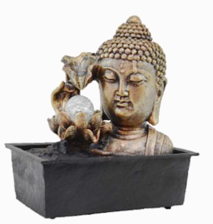 Fonte Zen de Água Buda Flor Com Bola  - Arrivo Mobile