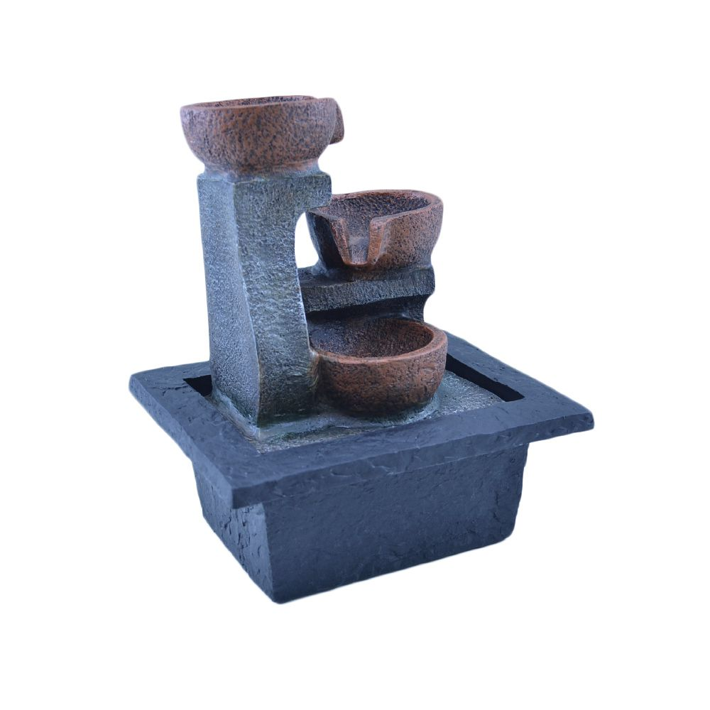 Fonte Zen De Água 3 Potes 20cm  - Arrivo Mobile