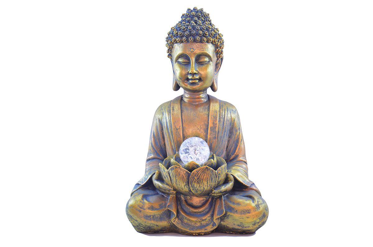 Fonte Zen De Água G Buda Com Bola 37cm  - Arrivo Mobile