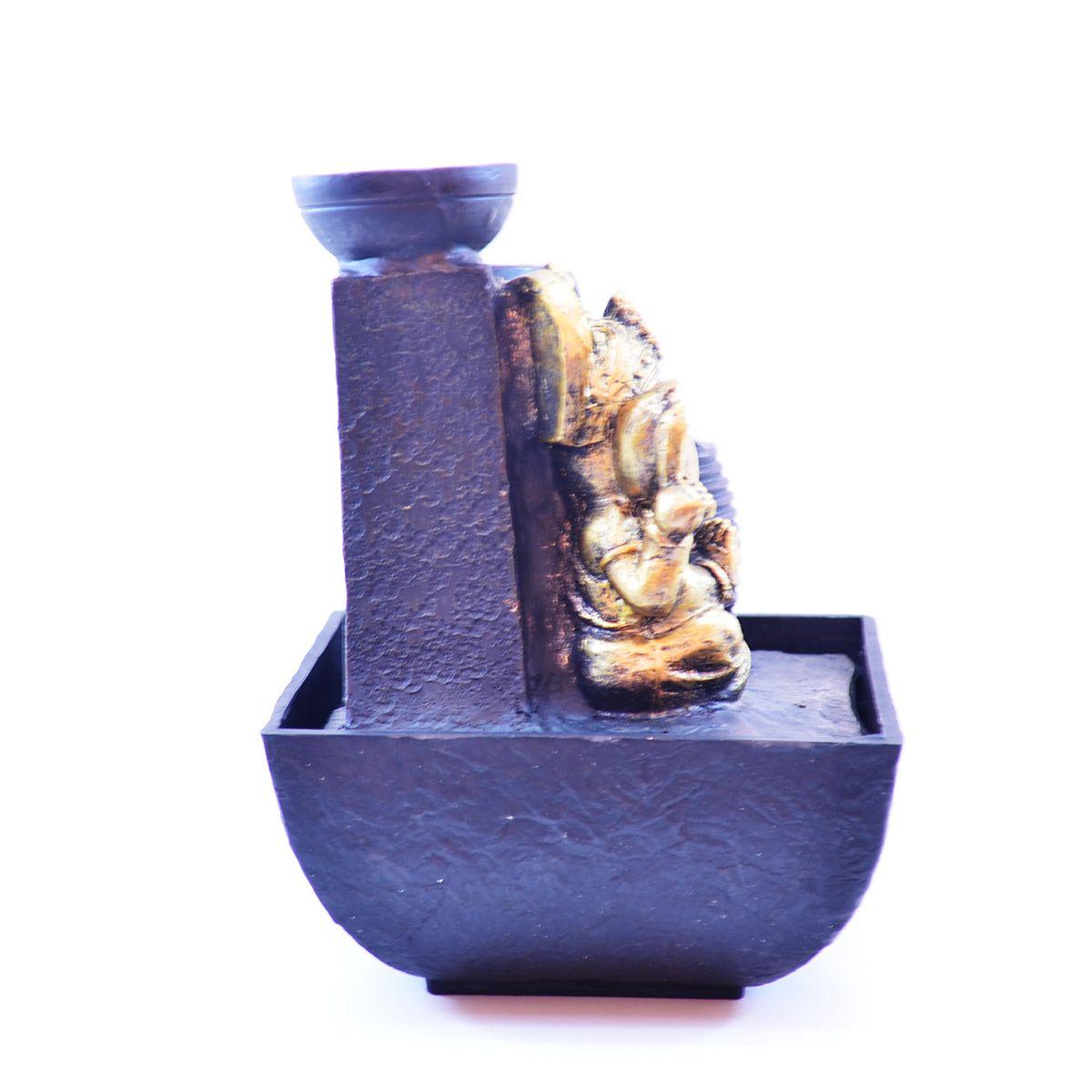 Fonte de Água Ganesha Com Vaso Resina  - Arrivo Mobile