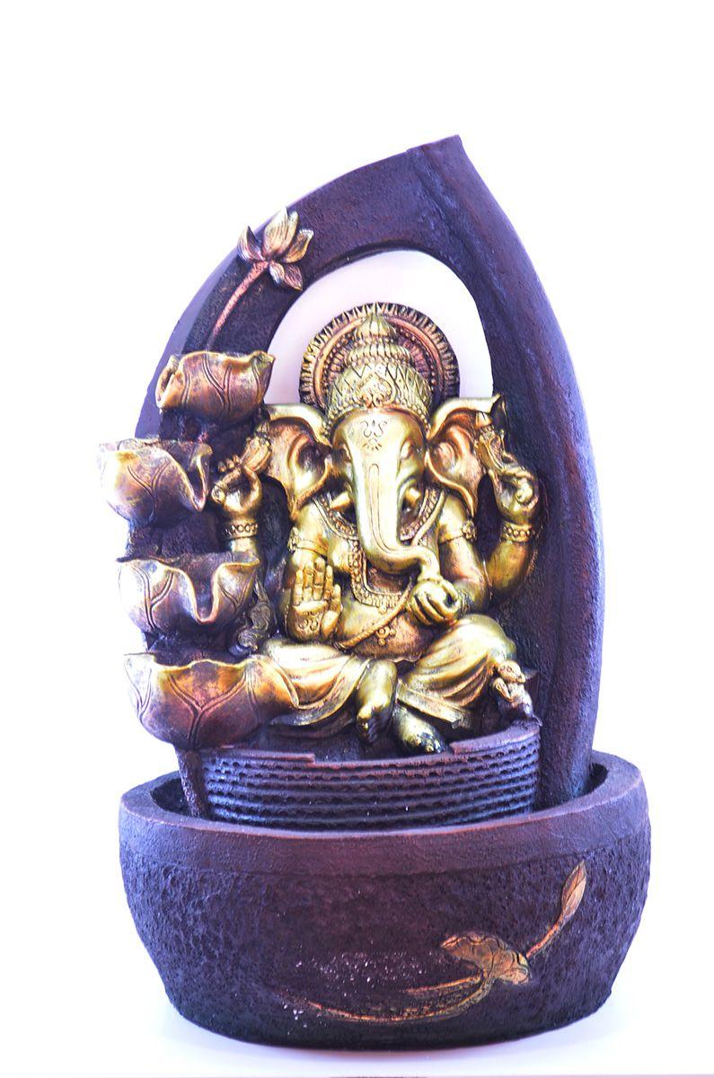 Fonte Zen De Água Ganesha Grande 60cm Resina  - Arrivo Mobile