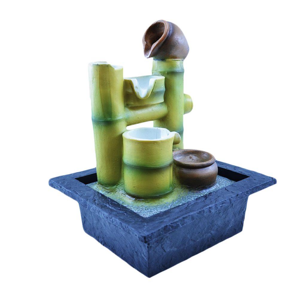 Fonte Zen De Água Temática Bambu 29cm  - Arrivo Mobile