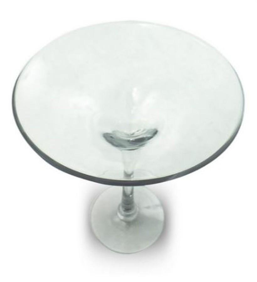 Fruteira Decorativa Vidro Transparente 29x40cm  - Arrivo Mobile