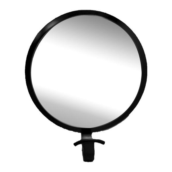Gancheira Redonda com Espelho Preta 23x19x8cm  - Arrivo Mobile