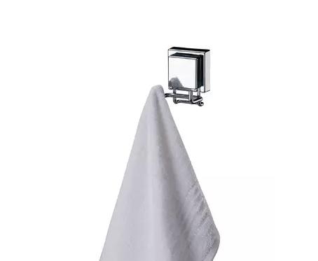 Gancho Duplo Inox Com Ventosa  - Arrivo Mobile