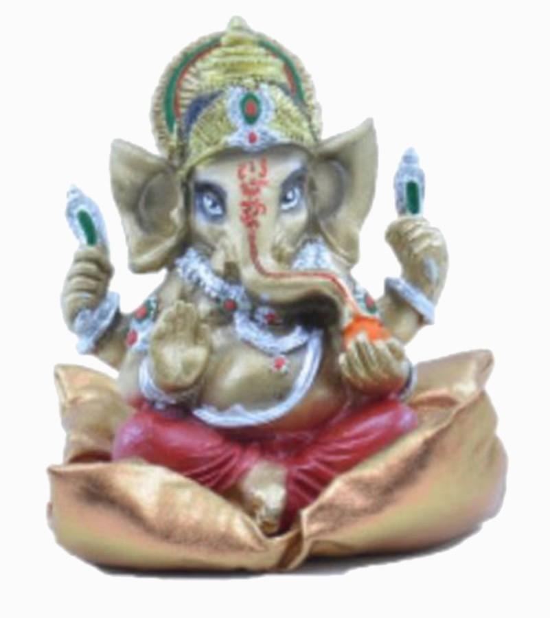 Estatua Enfeite Deus Ganesha Elefante Indiano Deus Hindu Almofada Decoração De Resina  - Arrivo Mobile