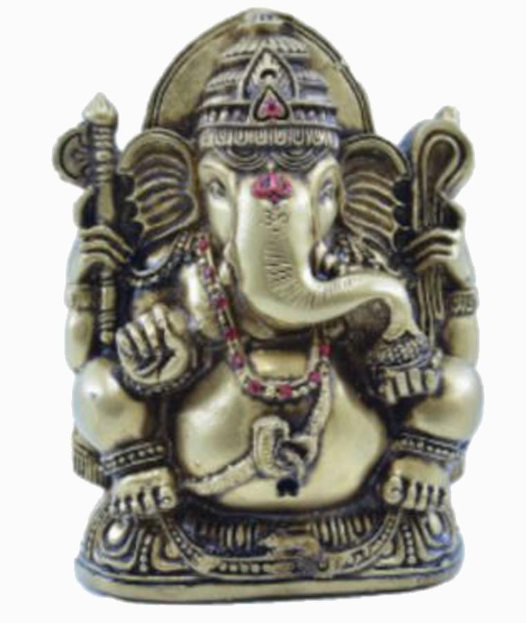 Estatua Enfeite Deus Ganesha G Dourado Costas Lisa  - Arrivo Mobile