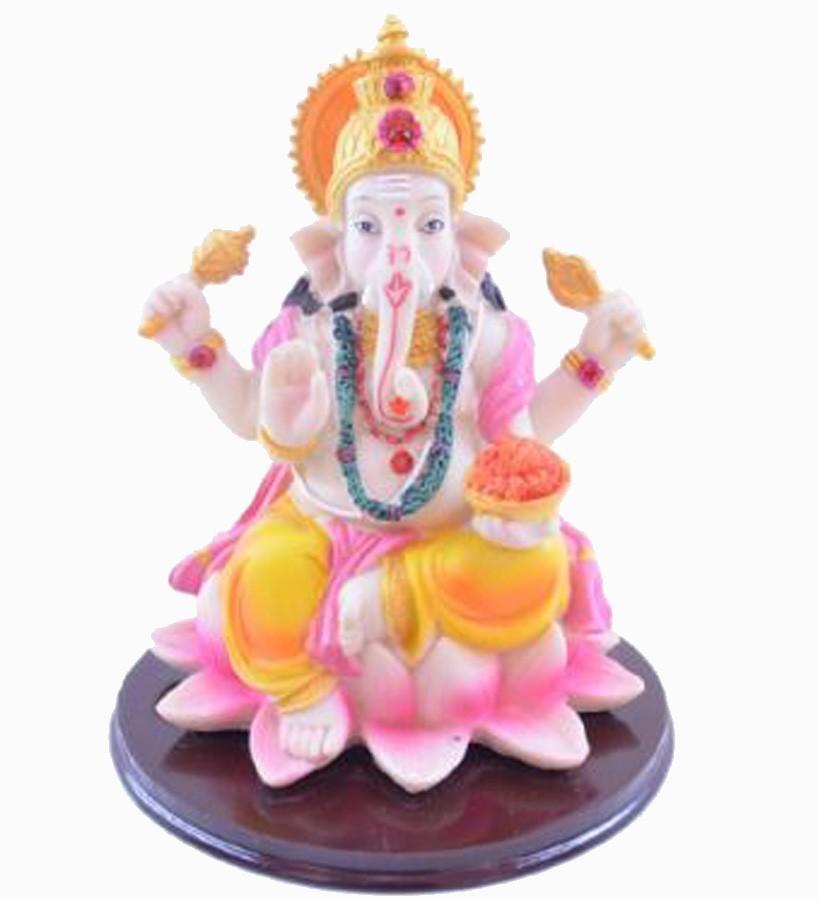 Estatua Enfeite Deus Ganesha G Dourado Importado  - Arrivo Mobile