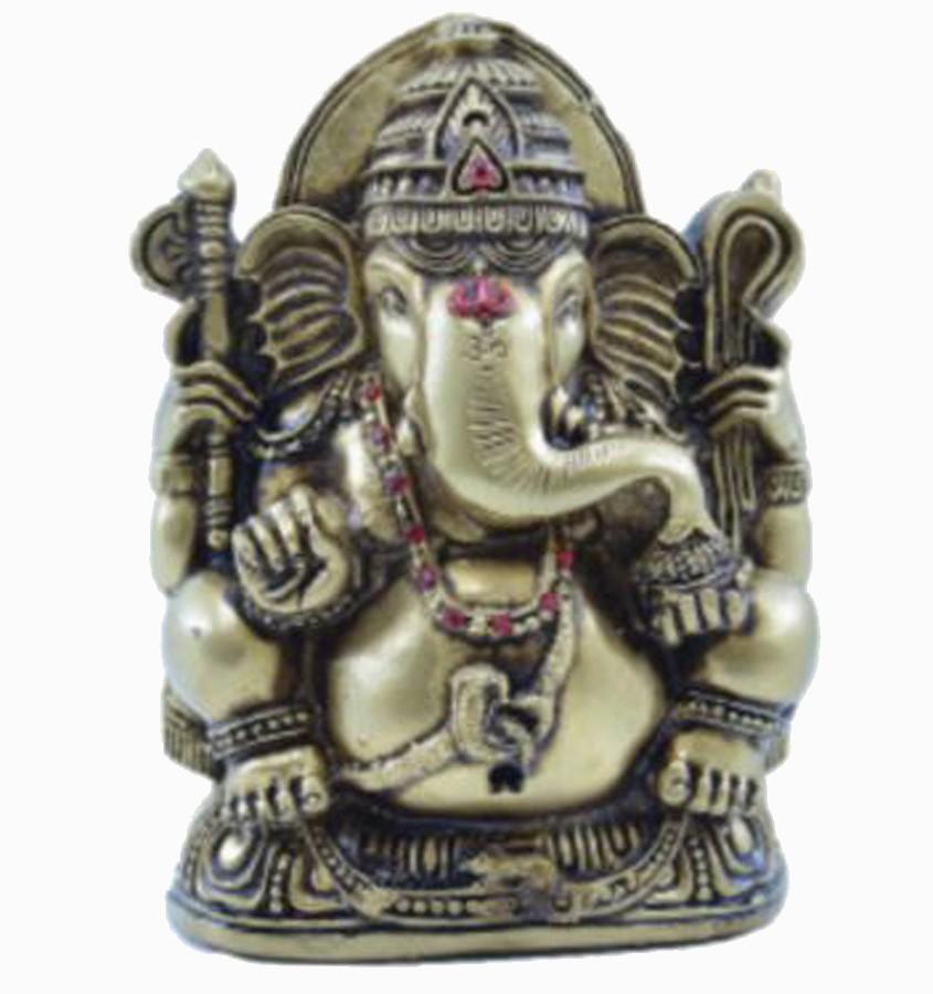 Estatua Enfeite Deus Ganesha M Dourado Costas Lisa  - Arrivo Mobile