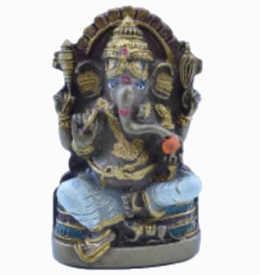 Estatua Enfeite Deus Ganesha P Branco Costas Lisa Plana  - Arrivo Mobile
