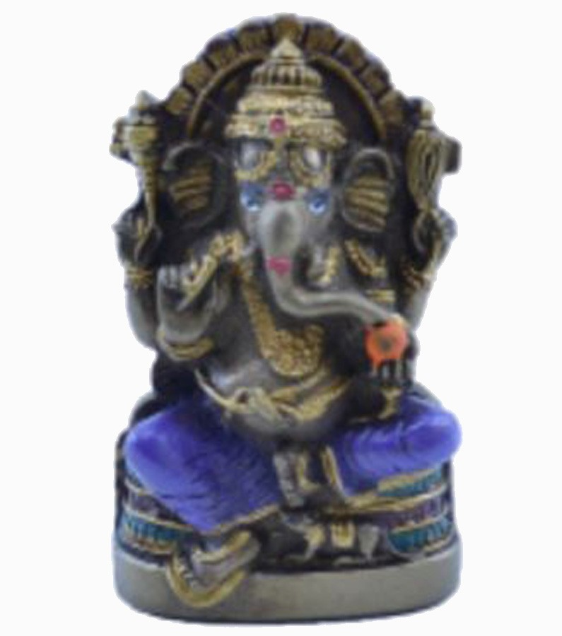 Estatua Enfeite Deus Ganesha P Roxo Costas Lisa Plana  - Arrivo Mobile