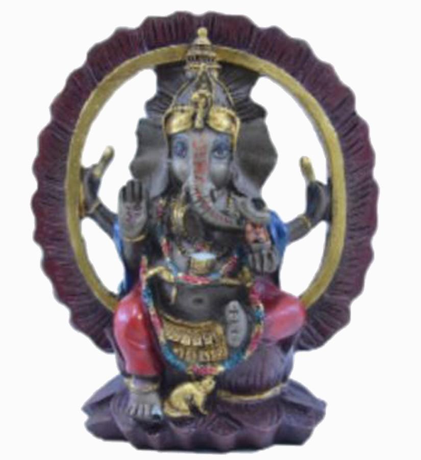 Estatua Enfeite Deus Ganesha Vermelho Arco  - Arrivo Mobile