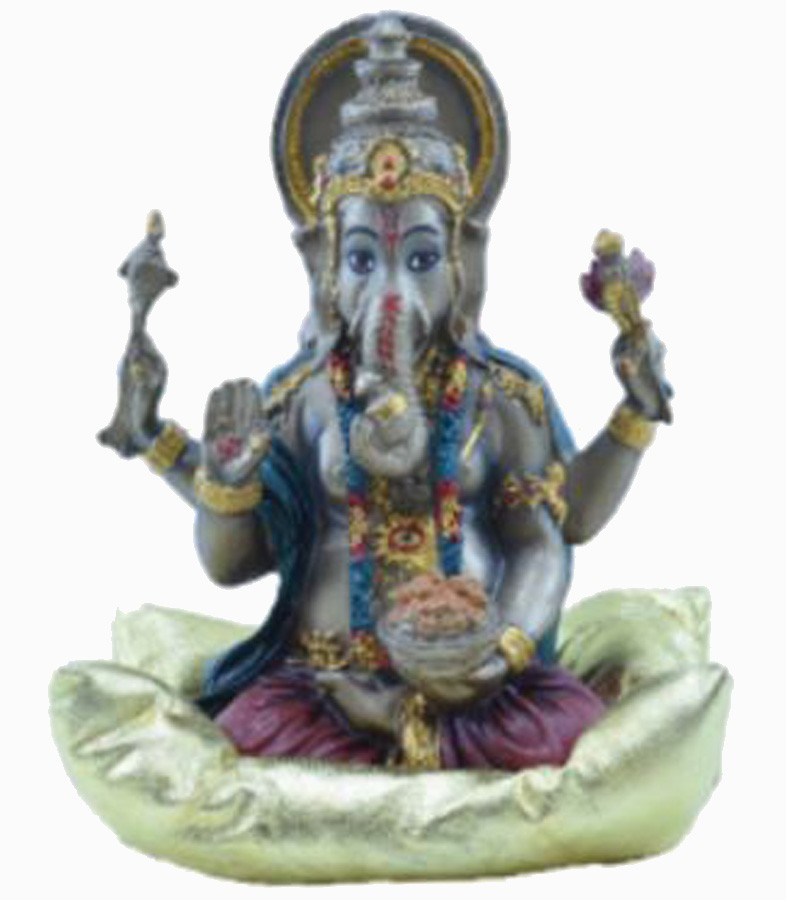 Estatua Enfeite Deus Ganesha Vermelho Na Almofada G  - Arrivo Mobile