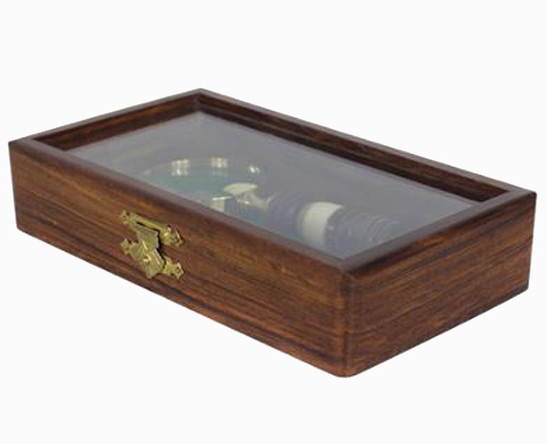 Gift Box 2 Pç Madeira E Bronze Oldway 16,5x9,25x3cm  - Arrivo Mobile