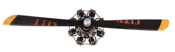 Hélice De Avião Decorativa 2 Pas Metal E Madeira Oldway 1138X34X20Cm  - Arrivo Mobile