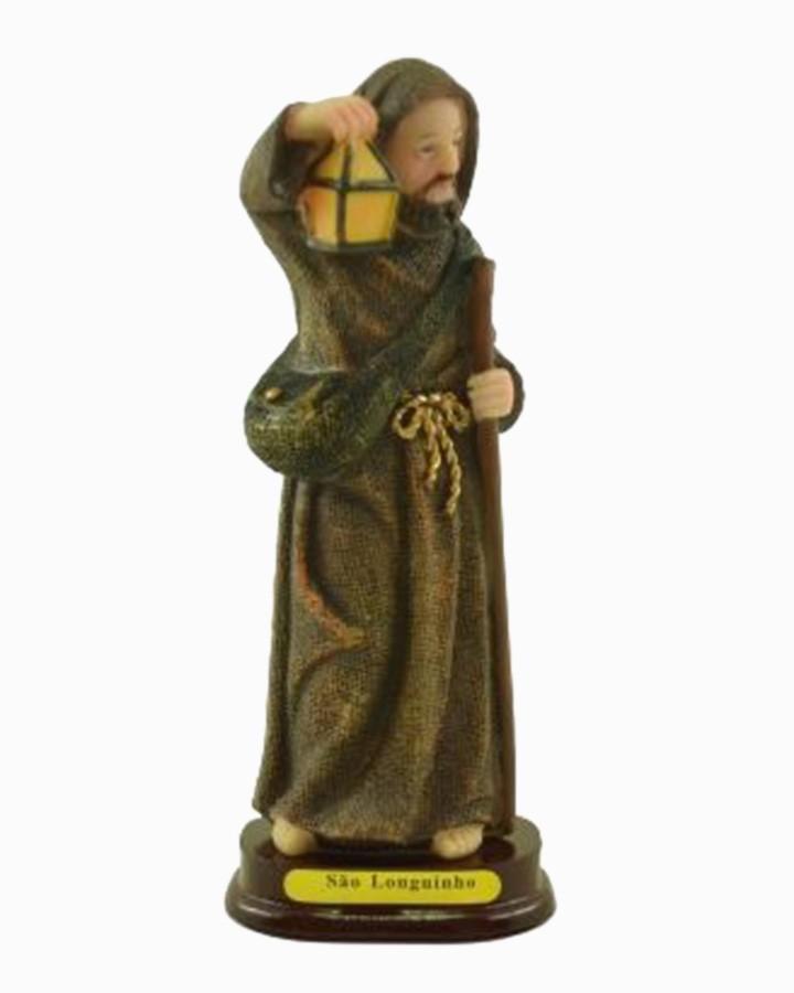 Estatua Enfeite Imagem de Imagem Escultura De São Longuinho 15cm Resina  - Arrivo Mobile
