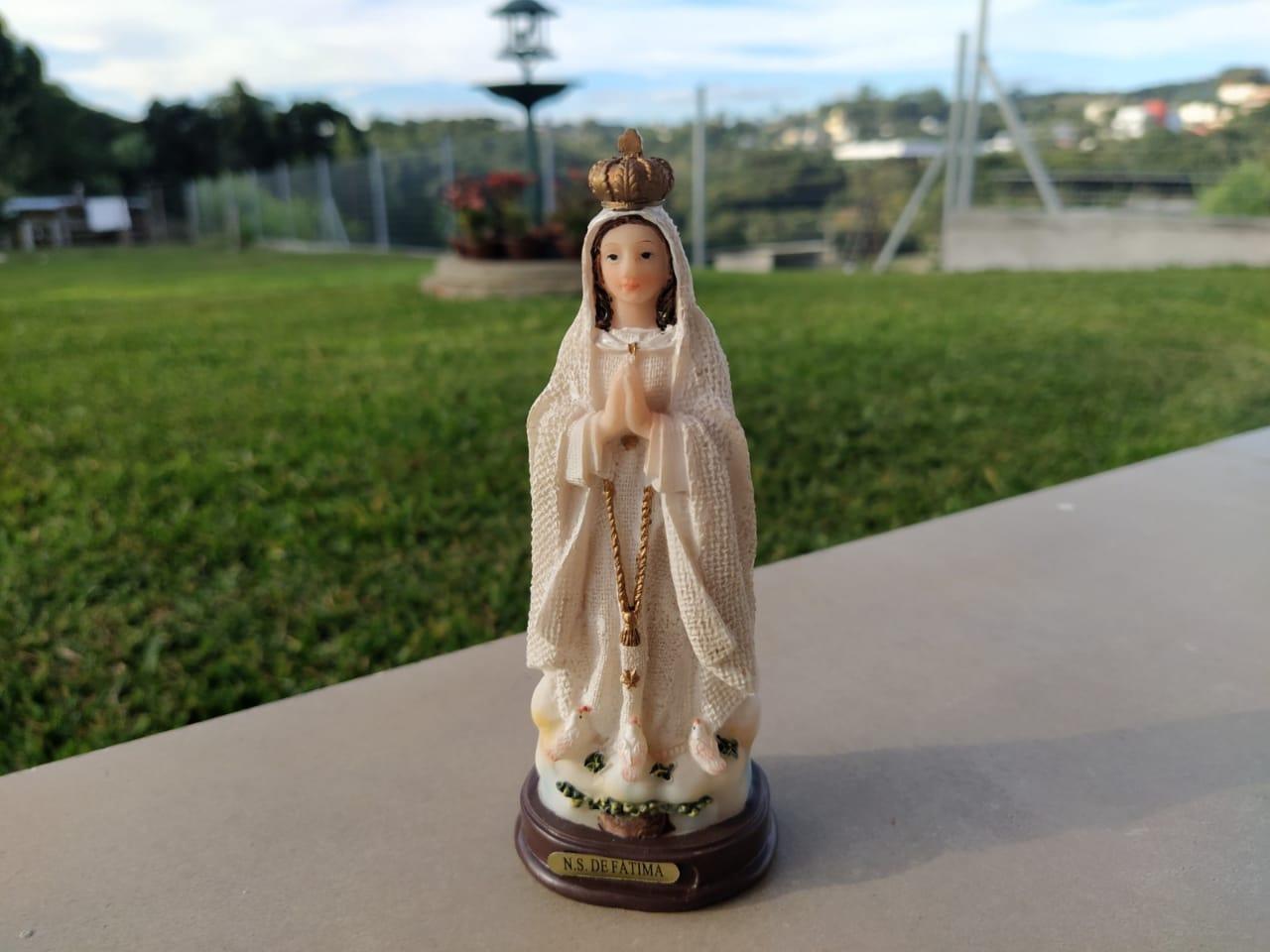 Imagem Nossa Senhora De Fatima 14cm Resina  - Arrivo Mobile