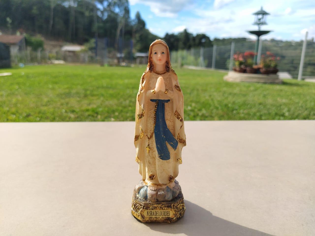 Imagem Nossa Senhora De Lourdes Resina Religiosa 14cm  - Arrivo Mobile
