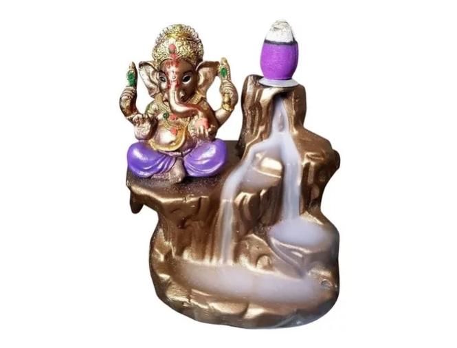 Incensário Ganesha Cascata Gratis 40 Incensos Cones  - Arrivo Mobile
