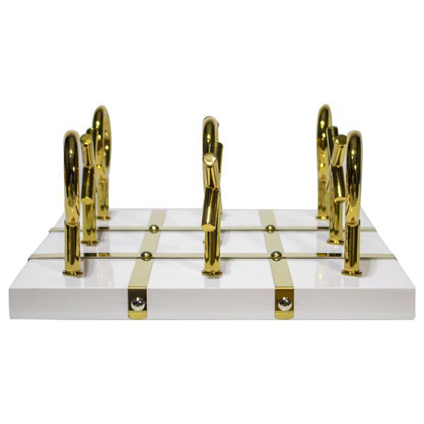 Jogo Da Velha Decorativo Em Metal Dourado  - Arrivo Mobile
