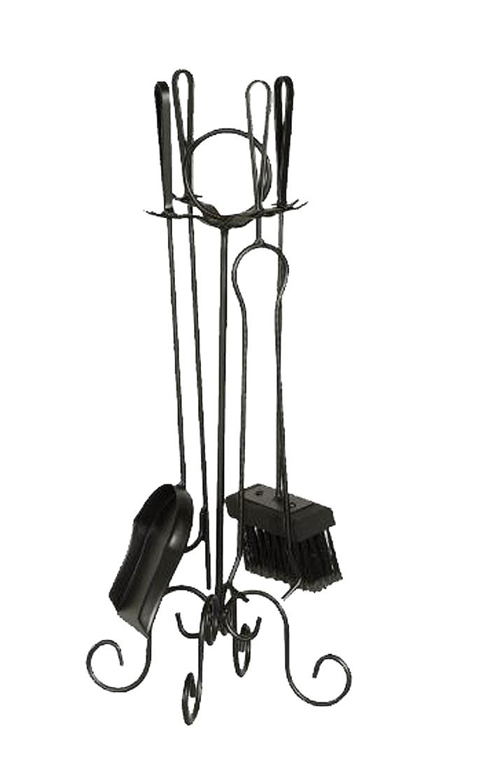 Kit de limpeza para lareira pequeno - cabo ferro  - Arrivo Mobile