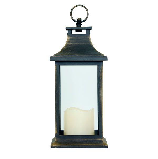 Lanterna Antique Gold Md C Vela De Led Oldway  - Arrivo Mobile