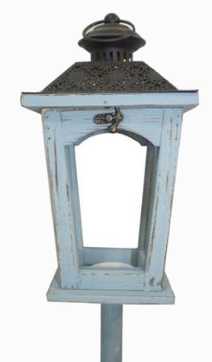 Lanterna Chão Azul/Preta Oldway 141x17x17cm  - Arrivo Mobile