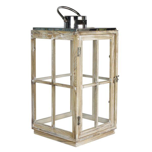 Lanterna Conjunto Pinus E Inox Prata  - Arrivo Mobile
