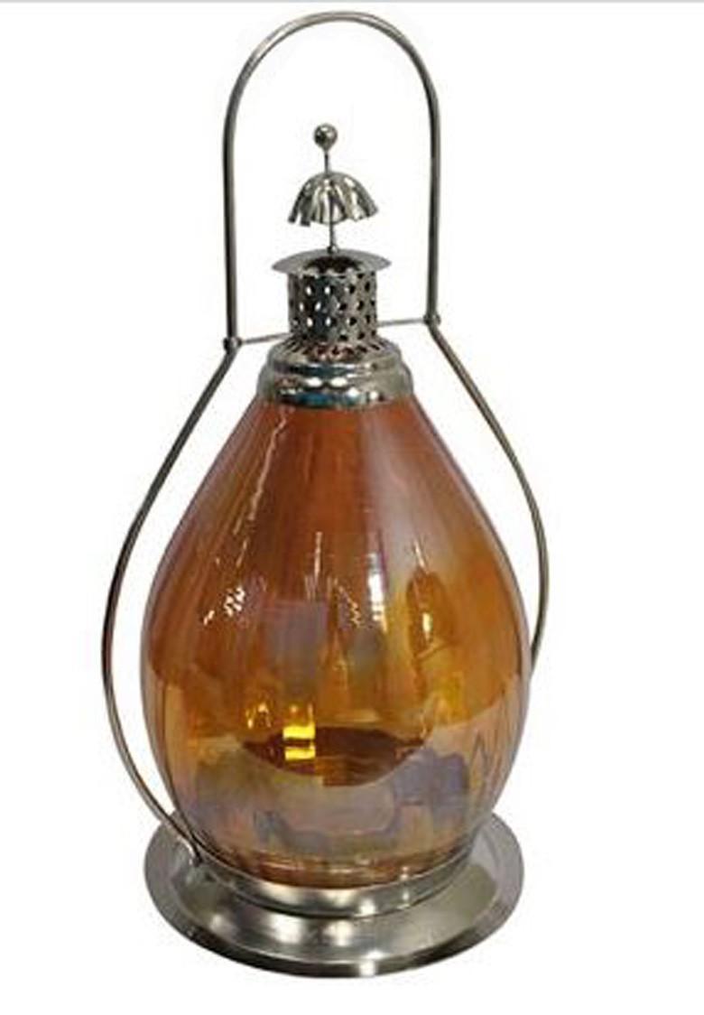 Lanterna Indiana Classic Yellow - Metal e Vidro  - Arrivo Mobile