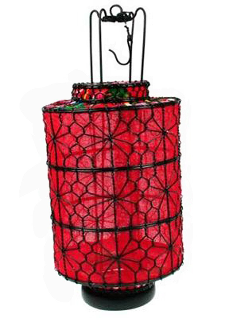 Lanterna Oriental Vermelha I 33x15x15cm  - Arrivo Mobile