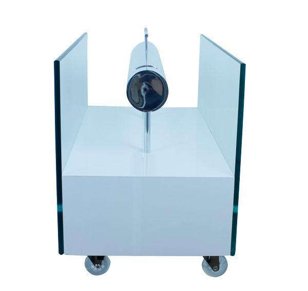 Lareira Ecológica Branco Brilhante Fullway 60x30cm  - Arrivo Mobile