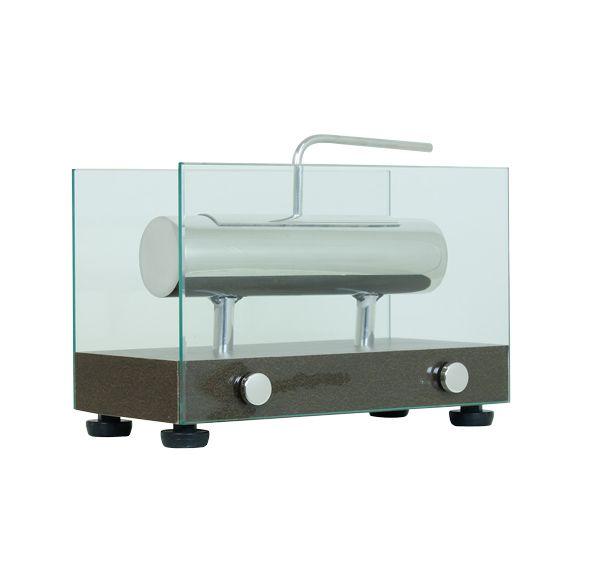 Lareira Ecológica Couro Café Fullway 16x25x14cm  - Arrivo Mobile