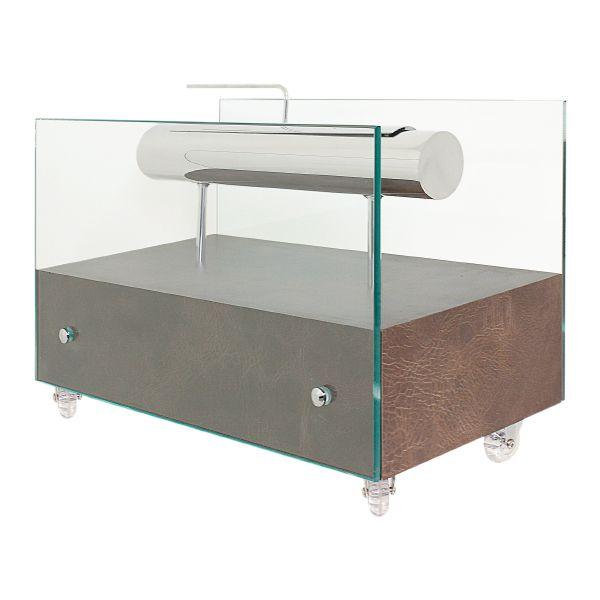 Lareira Ecológica Couro Café Fullway 60x30cm  - Arrivo Mobile